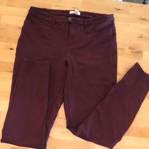 Lauren Conrad Burgundy Pants